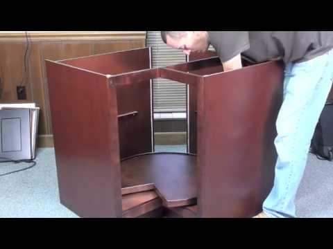 Interlocking Metal Bracket - Lazy Susan Cabinet Assembly 1
