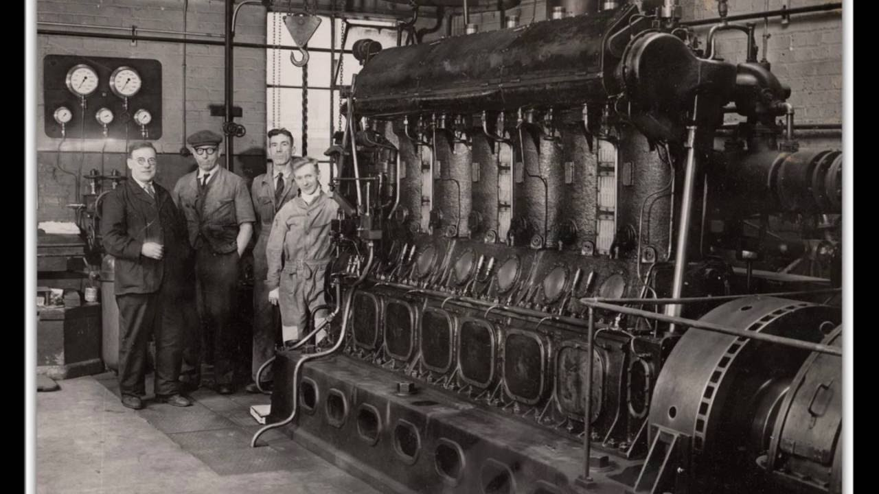 German U-Boat Diesel Engine Sound running 400 Horsepower Hitler`s Germany  Das Boot
