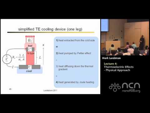 Near-equlibrium Transport Lecture 4: Thermoelectric Effects: Physical Approach