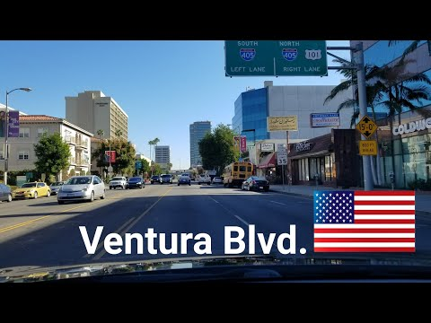 Dash Cam Tours 🚘: Driving on Ventura Blvd in San Fernando Valley, Los Angeles, California, USA
