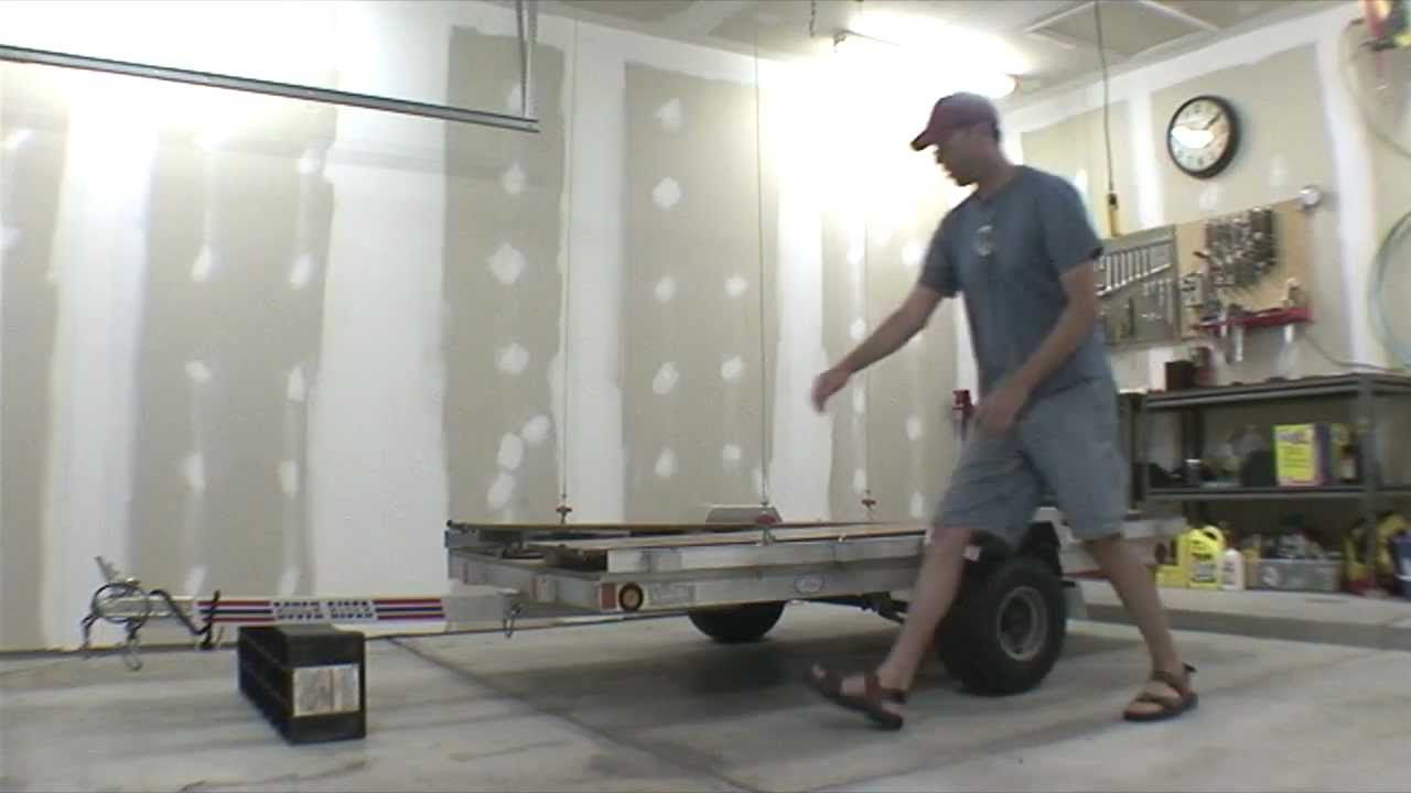 Garage Trailer Lift Storage Youtube