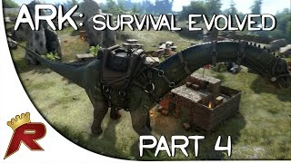"Ark: Survival Evolved Gameplay - Part 4: ""Taming a Dinosaur!"" (Early Access)"