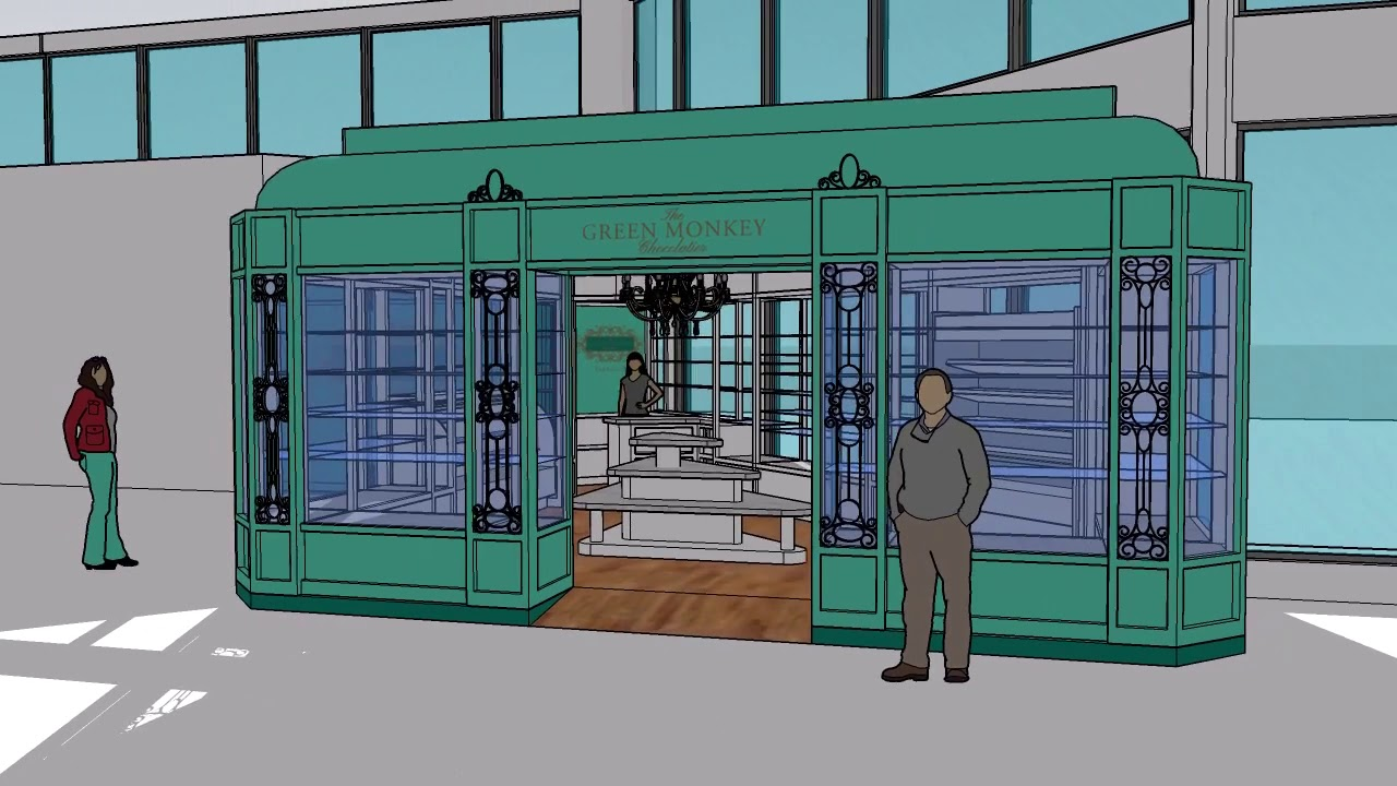 Download M+ Architecture: promo of the new Green Monkey Chocolatier shop at BGI