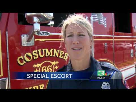 Firefighters give Elk Grove 4-year-old a special escort to school
