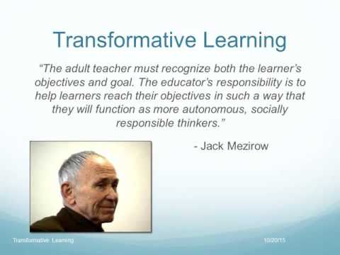 Transformative Learning Online Presentation By A  Randall McSorley