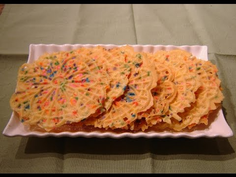 Italian Pizzelle Colored Cookie Recipe by Diane Lovetobake