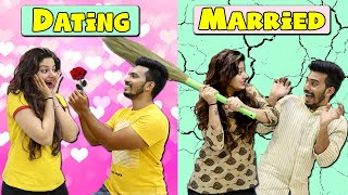 Dating vs Marriage | Funny Video | 4 heads