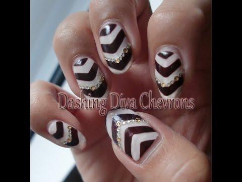 dashing diva chevrons nail art
