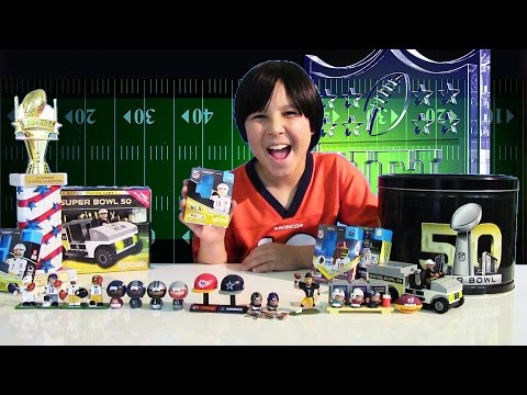 SUPER BOWL 50 Surprise Toys NFL Oyo Sports Exclusive Figures & Play Sets Lucas World Review