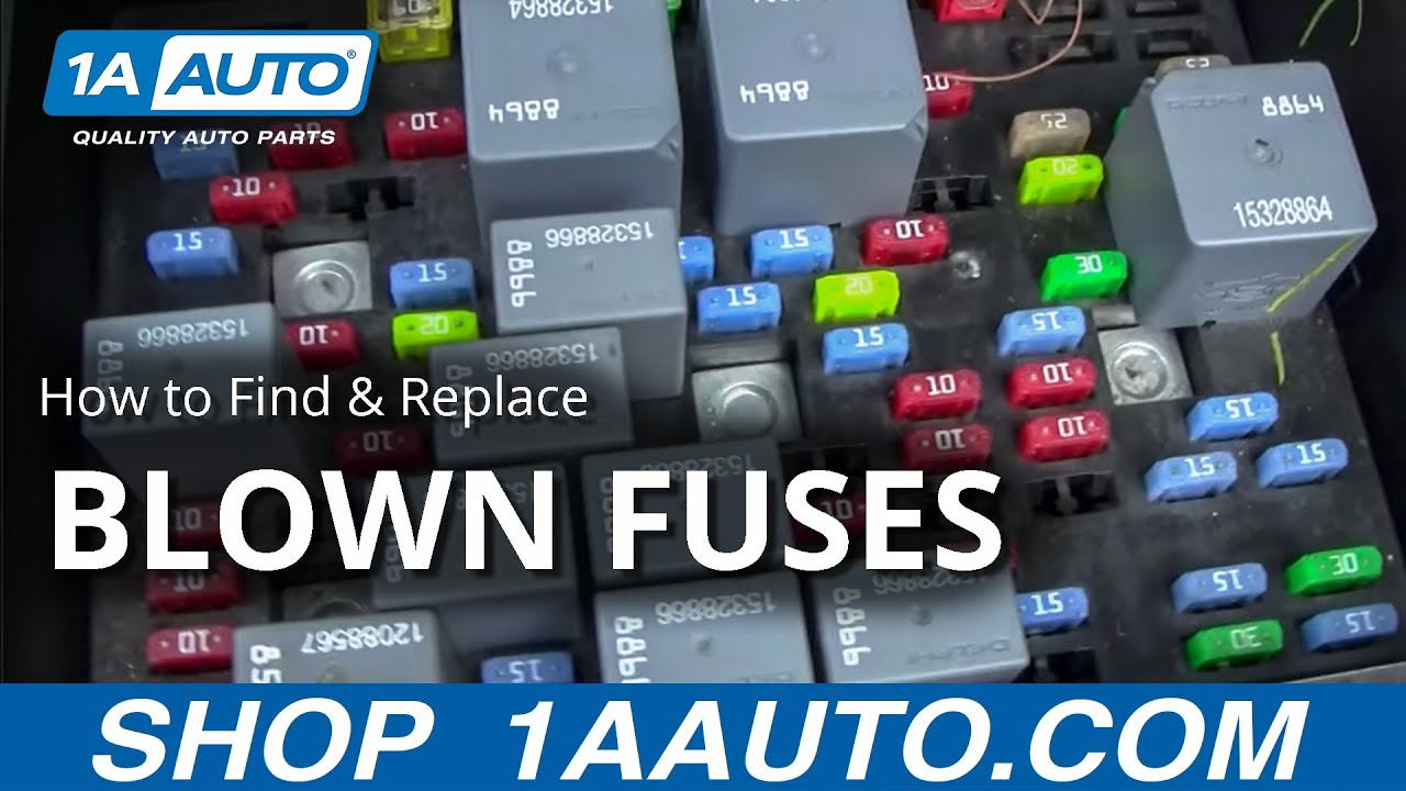 maxresdefault how to find and replace a blown fuse in your car or truck buy buy fuse box 1987 chevy silverado at readyjetset.co