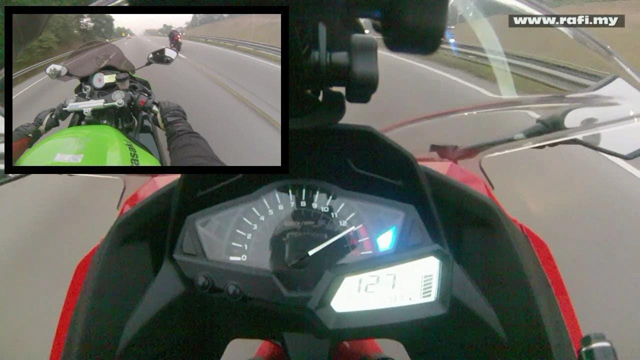 2013 Kawasaki Ninja 250R Top Speed - YouTube