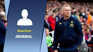 Dean Smith's Arsenal reaction: That was one that got away