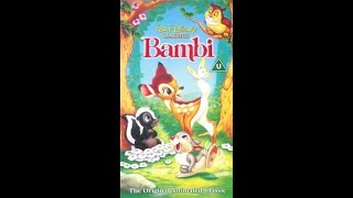 Download Opening to Bambi UK VHS (1994)