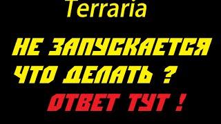 Что делать если не работает Terraria