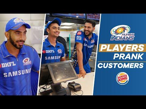 Yuvraj Singh & Others Prank Burger Joint Customers | Mumbai Indians