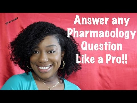 ♥How to answer ANY Pharm Question for Nursing School  & NCLEX   FEARLESSRN