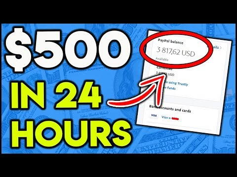 How To Make QUICK Money Online 2019 ($500 In 24 Hours)