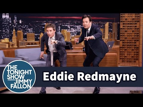Eddie Redmayne Teaches Jimmy a tastic Beasts Mating Dance