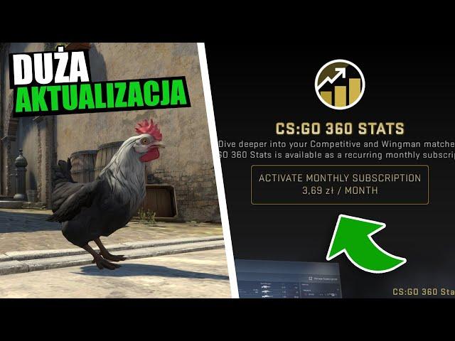 CS:GO Aktualizacja - Płatne Statystyki, Nowe Mapy, Nowa Skrzynka i Kurczaki