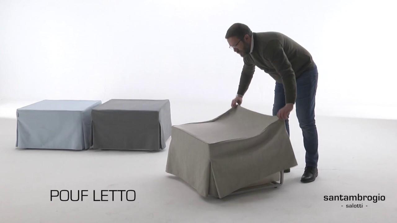 Brandina Pieghevole Con Materasso Ikea.Pouf Letto Prontoletto Pouff Bed Ottoman Bed Youtube