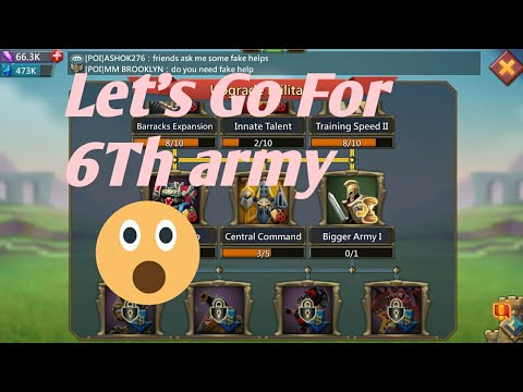 Lords Mobile Starting Bigger Army I Research |Lords Mobile 6th Army Research |Lords Mobile .