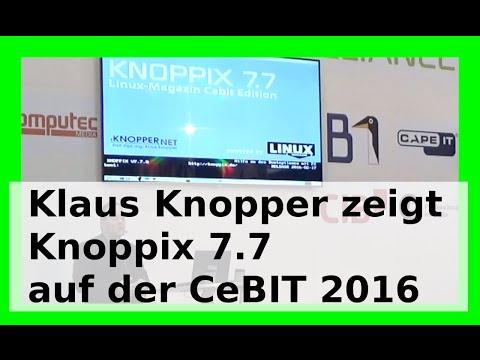 Knoppix 7.7 Linux - CeBIT 2016 - Vorstellung und Neuerungen von Knoppix März 2016 - WLBI