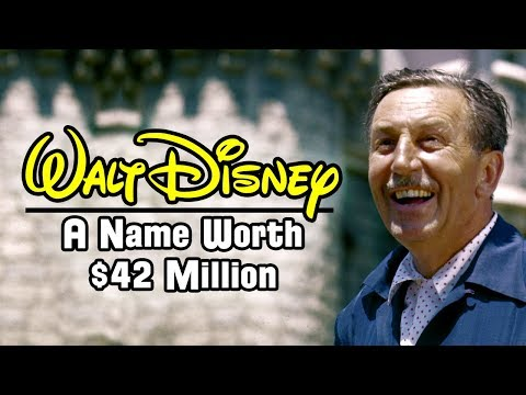 Walt Disney's Name Was Sold For $42 Million