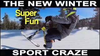Ski Bike....The new winter sport craze!