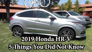 5 Things You Did Not Know About the 2019 Honda HR-V