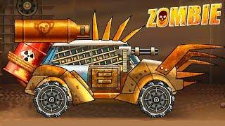 ПОЛНЫЙ АПГРЕЙД СУПЕР МАШИНЫ Hill Zombie Racing открыли новую тачку - игра давилка как Earn to Die