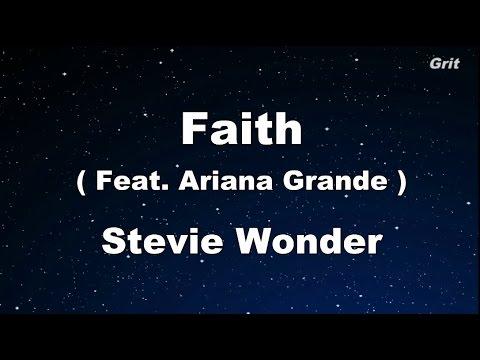 Faith feat. Ariana Grande - Stevie Wonder Karaoke 【With Guide Melody】 Instrumental