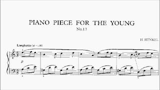 LCM Piano 2018-2020 Grade 1 List B6 Henkel Piano Piece for the Young No.13 Sheet Music