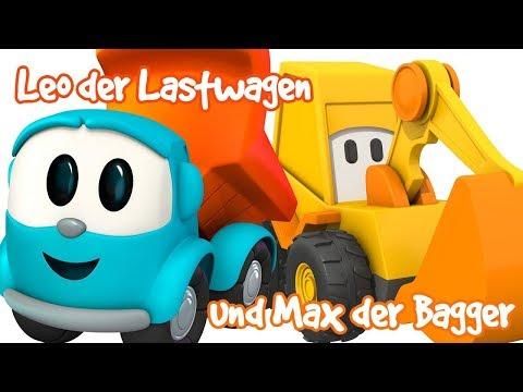 Leo Junior und Autos auf Deutsch. Zeichentrickfilme für Kinder.