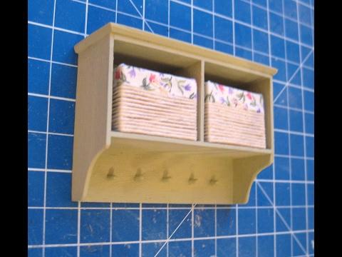 112th Scale Dolls' House Wall Shelf with Storage Baskets Tutorial