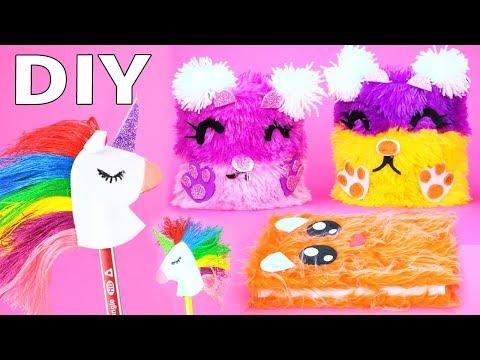 DIY School Supplies!  Easy Back To School DIY Projects