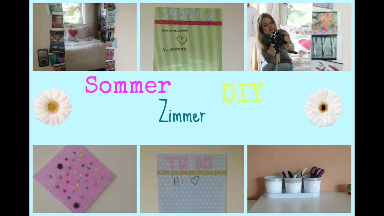 diy zimmer deko ideen sommer youtube. Black Bedroom Furniture Sets. Home Design Ideas
