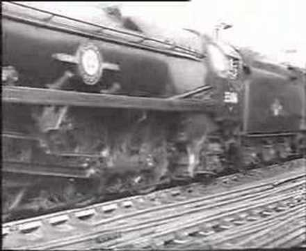 Merchant Navy Pulls out of Waterloo c1960
