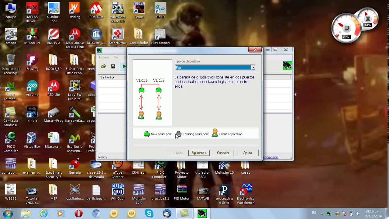 Instalación del Virtual Serial Ports Emulator