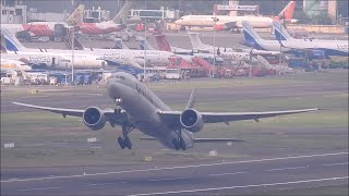 Qatar Airways Boeing 777 300ER takes off from Chennai Airport