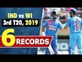 Ind vs wi 3rd t20 match records india clean sweep west indies by 3 0 rishabh 67 kohli 59 mp3
