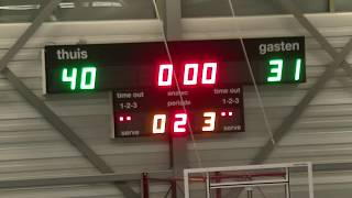 13 april 2019 Cady MSE1 vs Rivertrotters MSE2 82-61 2nd period