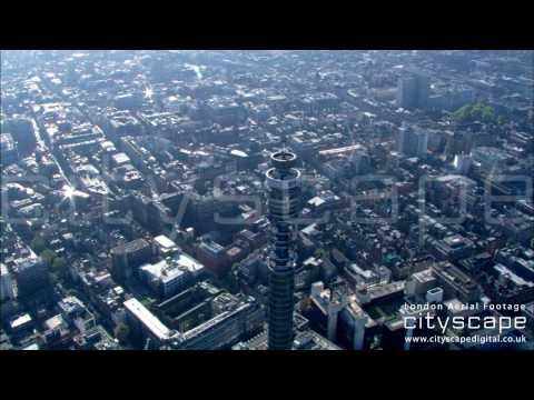 London Aerial Footage - BT Tower (HD)