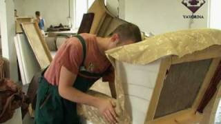 Производство мебели. Мебельная фабрика ЯВОРИНА (Киев)(Секреты производства качественной мебели. Что находится под обивкой стула? Диван наизнанку. Где слабые..., 2010-08-19T07:40:53.000Z)