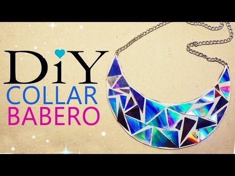 COLLAR BABERO CON CDS - BIB NECKLACE WITH OLD CDS