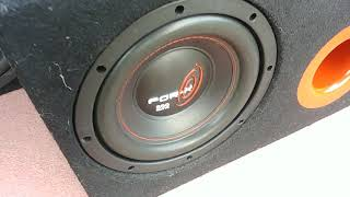 For x x8040 20 cm 500 watt 150 rms subwoofer bass test