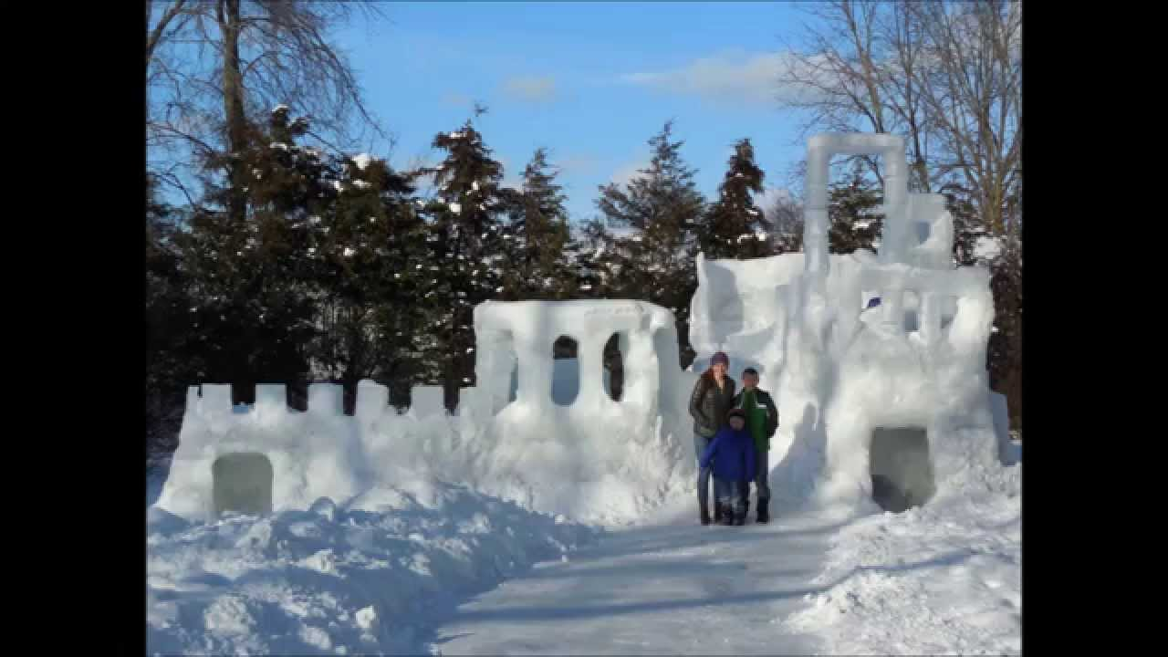how to draw a snow fort