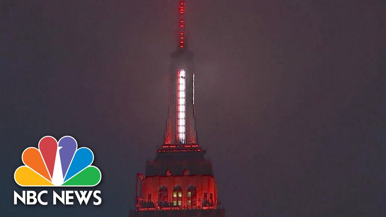 Empire State Building Honors COVID-19 First Responders, Medics | NBC News