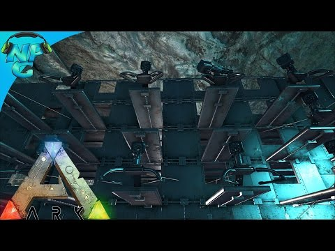 Raiding the Underwater Cave Base, Passing the Turret Wall! ARK Survival Evolved - PvP Season E36