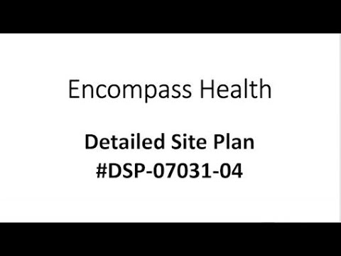 Bowie Advisory Planning Board Virtual Hearing - Encompass Health