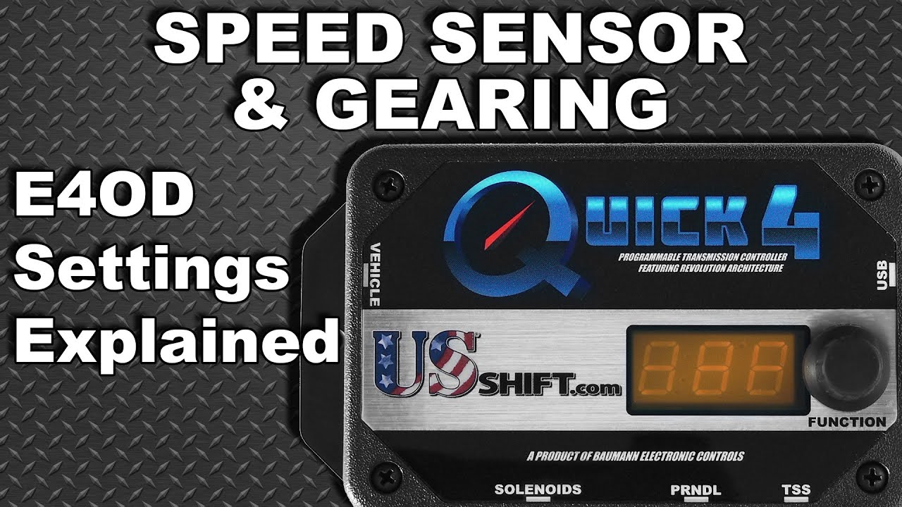 ford e4od speed sensor & gearing settings explained